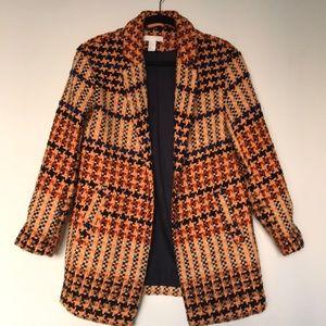 H&M Checkered Oversized Pea Coat